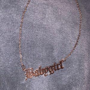 """Rose gold """"babygirl"""" necklace"""